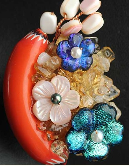 Fashion Women Jewelry Coral Brooch Pendant Cloth Brooch Bridal Flower Brooch Free Shipping все цены