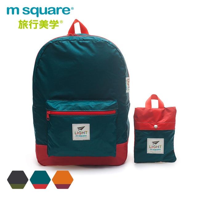 M Square Travel Men's Laptop Backpack Women Waterproof Lightweight Bag Folding Backpacks For Teenage Girls Foldable Back Pack