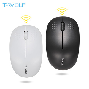 T WOLF Q4 Computer Wireless Mouse Small Portable Ergonomic Office Mice Stable 2.4GHz 10M Range for PC Laptop/ Desktop/ Notebook|Mice| |  -