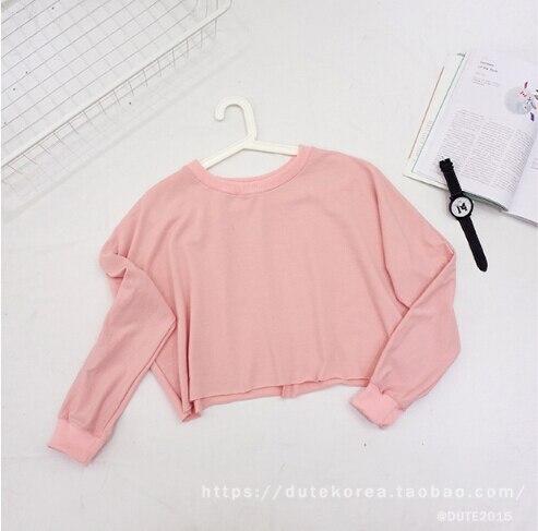 Online Shop New 2015 Fall Fashion Lolita Pink Short Crop ...