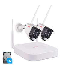 Tonton 1080P Wireless NVR kit CCTV System 2MP 4CH HD Outdoor IR Night Vision IP Wifi Camera Security System Surveillance 1TB HDD цена 2017