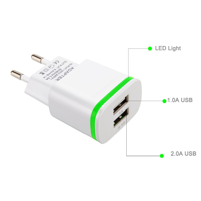 GEUMXL Dual USB EU Plug Travel Charger 3F Type C USB Cable for - Ανταλλακτικά και αξεσουάρ κινητών τηλεφώνων - Φωτογραφία 4