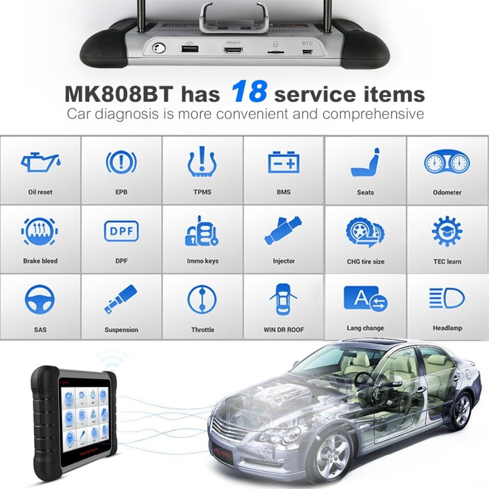 Image 3 - Autel MK808BT OBD2 сканер диагностики авто диагностический инструмент OBD 2 Автомобильный считыватель кодов ODB2 ключевой программист диагностики лучше Старт X431-in Считыватели кодов и сканирующие инструменты from Автомобили и мотоциклы