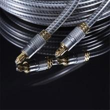 EMK OD8.0mm Alto Grau Ouro Conector do Cabo de Fibra Óptica Digital Óptica Spdif Toslink Audio cable 1 m 1.5 m 2 m m 5 3 m
