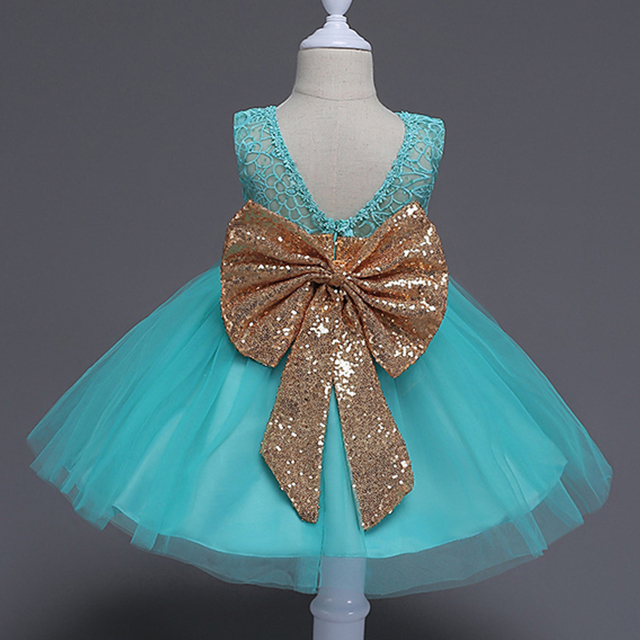 89b1f6ff1 New Cute Baby Girls Princess Ball Gown Leak Back Toddler Kids Dress ...