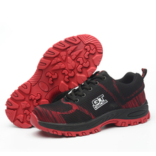 AC13004 Breathable Lightweight Casual Work Shoes Safety Boots Anti-piercing Deodorant Mens Toe Steel