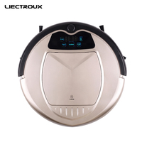 Robot Vacuum Cleaner Two Side Brushes LED Touch Screen With Tone HEPA Filter Schedule Remote Control
