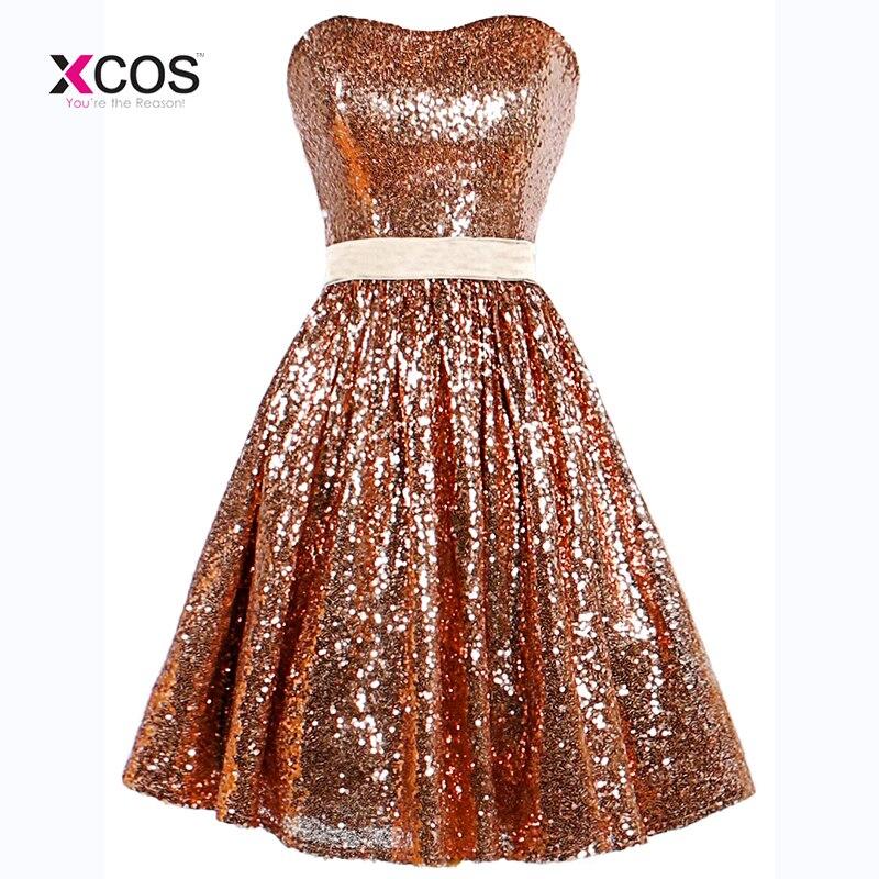abendkleider full sequins short prom dresses sweetheart