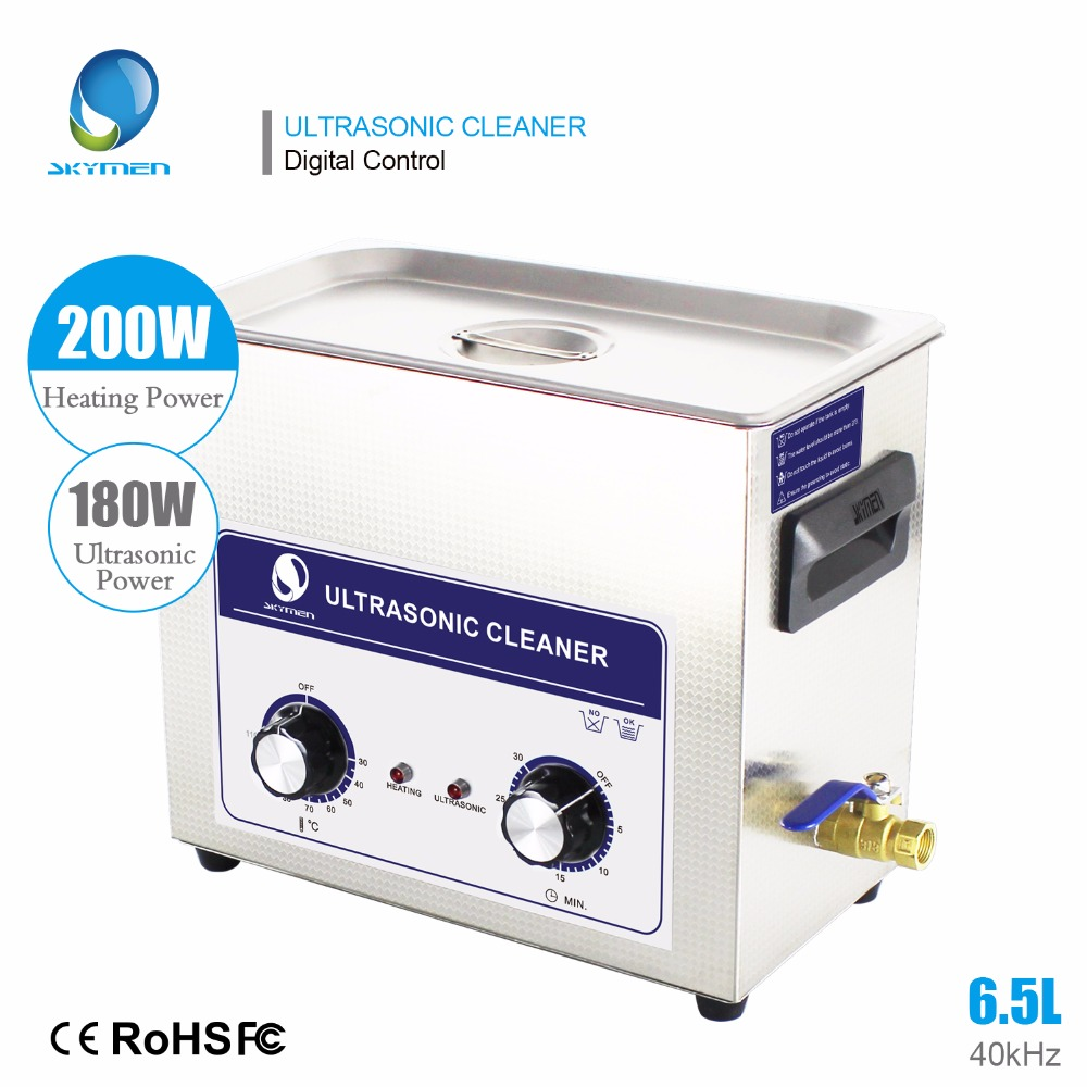 Skymen 6l Ultrasonic bath 6L 6.5L Professional Stainless Steel Ultrasonic Cleaner Hospital Industrial Auto Engine Parts-in Ultrasonic Cleaners from Home Appliances    1