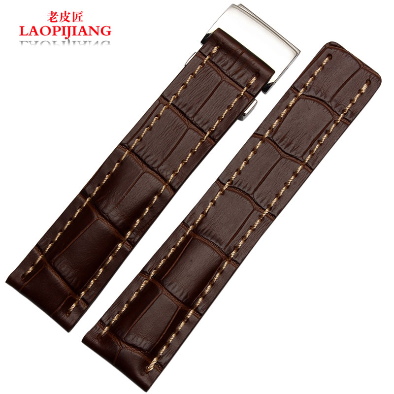Luxury quality Crocodile leather strap 22mm 24mm fit B reitling accessories chain alternative aviation Chronograph belt has logo
