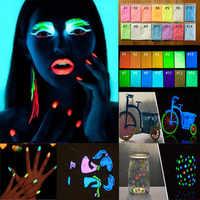 10 г блестящее фосфорное покрытие хромовое для дизайна ногтей светящаяся в темноте светящаяся флуоресцентная пудра пигмент 17 цветов
