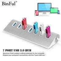 Binful Haute vitesse En Aluminium USB 3.0 HUB 7 Ports Puissance adaptateur usb hab splitter pour Ordinateur Portable PC portable Usb Hub