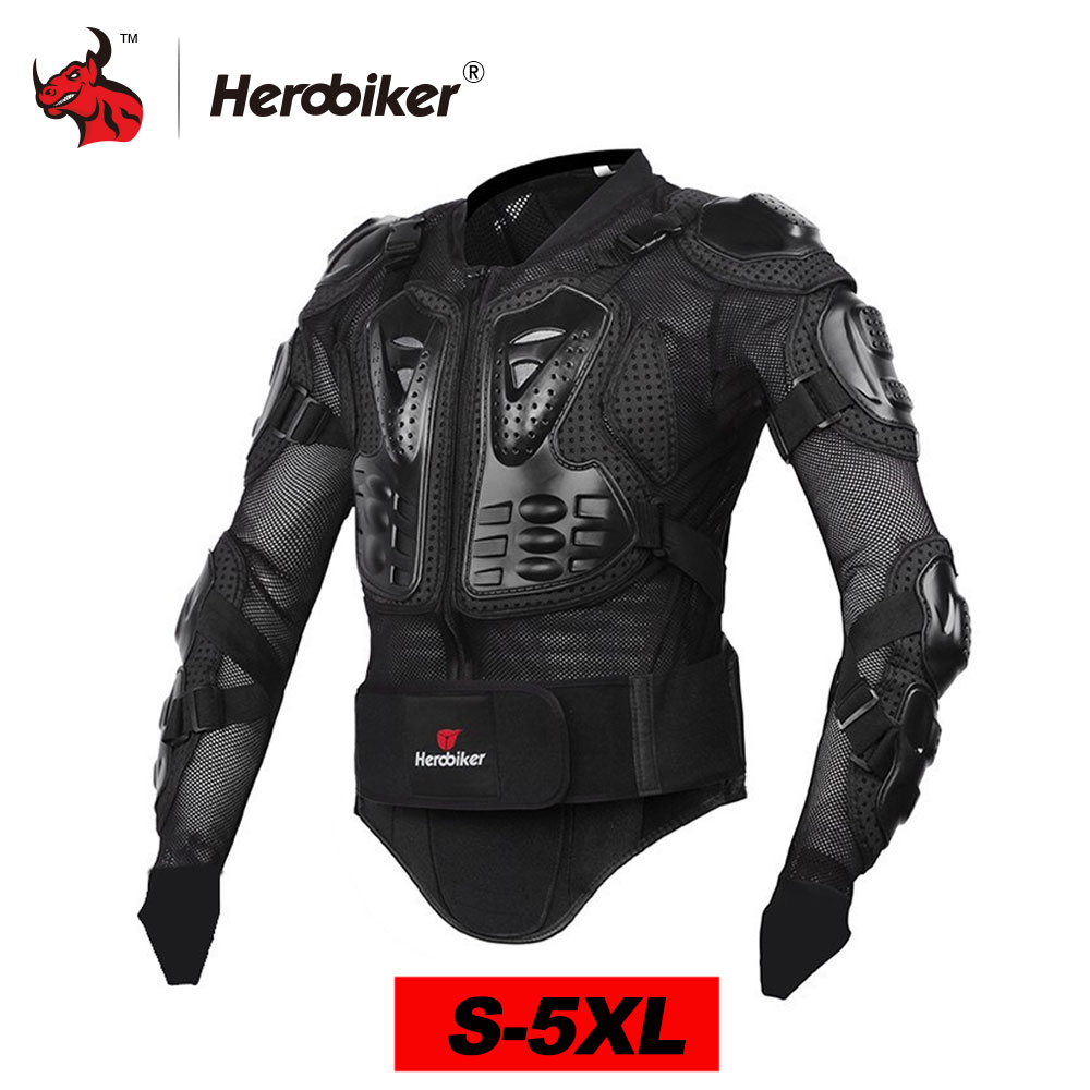 HEROBIKER Motorcycle Jacket Men Motorcycle Armor Full Body Motocross Racing Protective Gear Moto Protection S-5XL herobiker motorcycle protection motorcycle armor moto protective gear motocross armor racing full body protector jacket knee pad