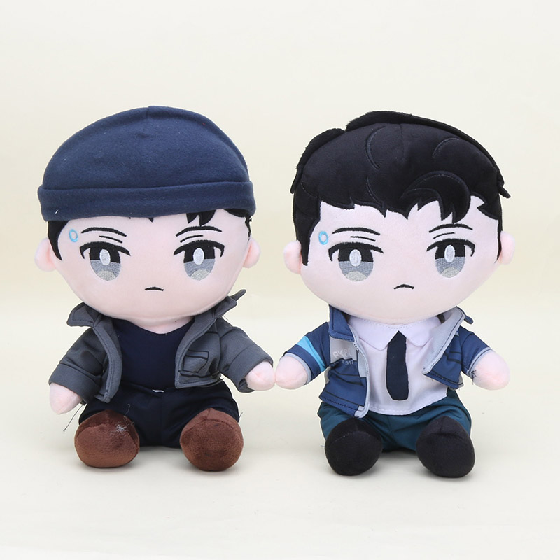 Detroit Become Human RK800 Connor Cosplay Doll Plush Toy Birthday Gift