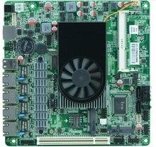 Firewall motherboard for 4 lan, 1U firewall appliance mini-itx d525 motherboard with 4* Intel 82583V 10/100/1000Mbps Ethernet