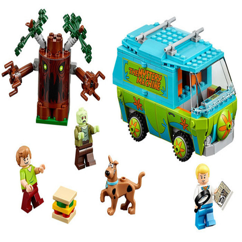 305pcs Diy The Mystery Machine Scooby Doo Fred Shaggy Zombie Zeke building blocks Compatible with Legoingly Toys For Children икона янтарная богородица скоропослушница кян 2 305