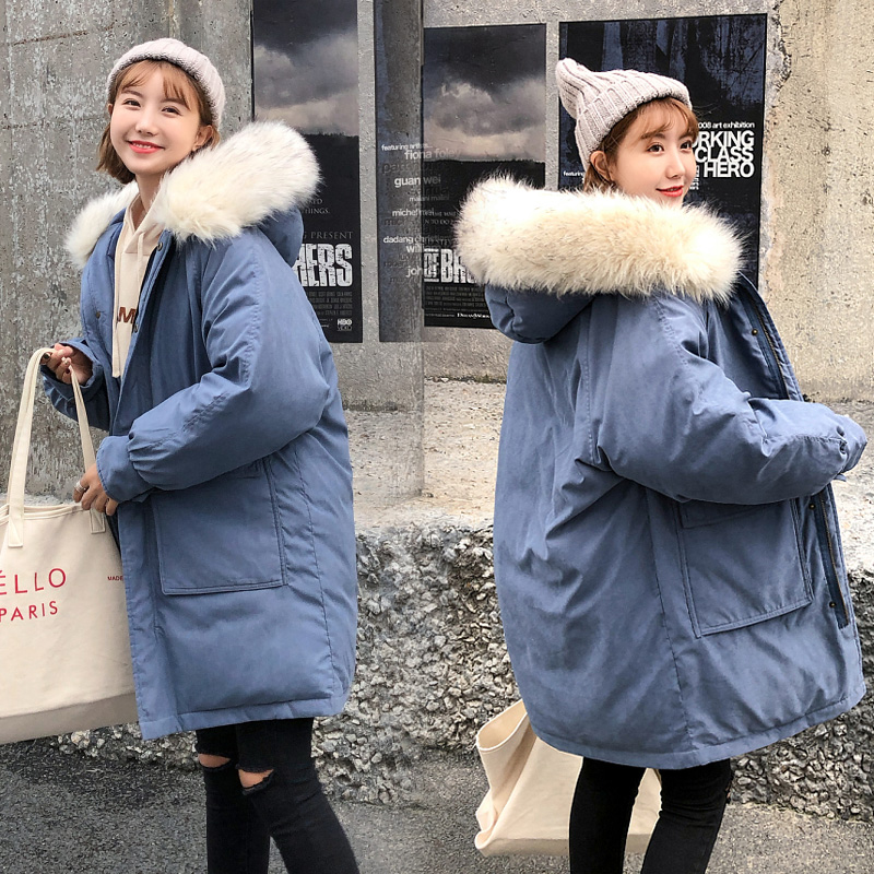 Winter Jackets Solid Color Coats Women Long Warm Thickening Hooded   Parka   Female Long Sleeve Outerwear Coats Vintage Parks #1806