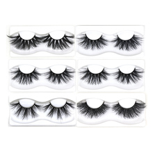Mink Eyelashes 3 Pairs/Lot 25mm 5D Lashes Thick for Extension Long Natural Wispy Fluffy Makeup Tools with Gift Box