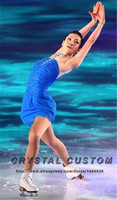 Blue Figure Skating Dress Elegant New Brand Competition Ice Figure Skating Dresses For Women DR3509