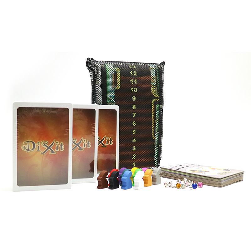 Updated version Dixit 4 5 6 7 with wooden bunny 336 cards mesh bag original voting