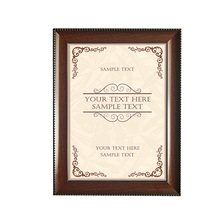 Yakri A4/A5/B5 Desktop and Wall mounted Resin Picture Frame Certificate Holder RPF027