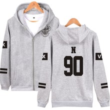 KPOP VIXX Hoodies With Zip Up VIXX Zipper Pullover Sweatshirt Harajuku Hip Hop Fleece  Vixx For Women Men Lady Young Teen