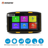 TOPSOURCE Navigator Motorcycle GPS 5 inch Android Waterproof DDR 1GB MT 5001 GPS with Bluetooth 4.0 WiFi Play Store APP download