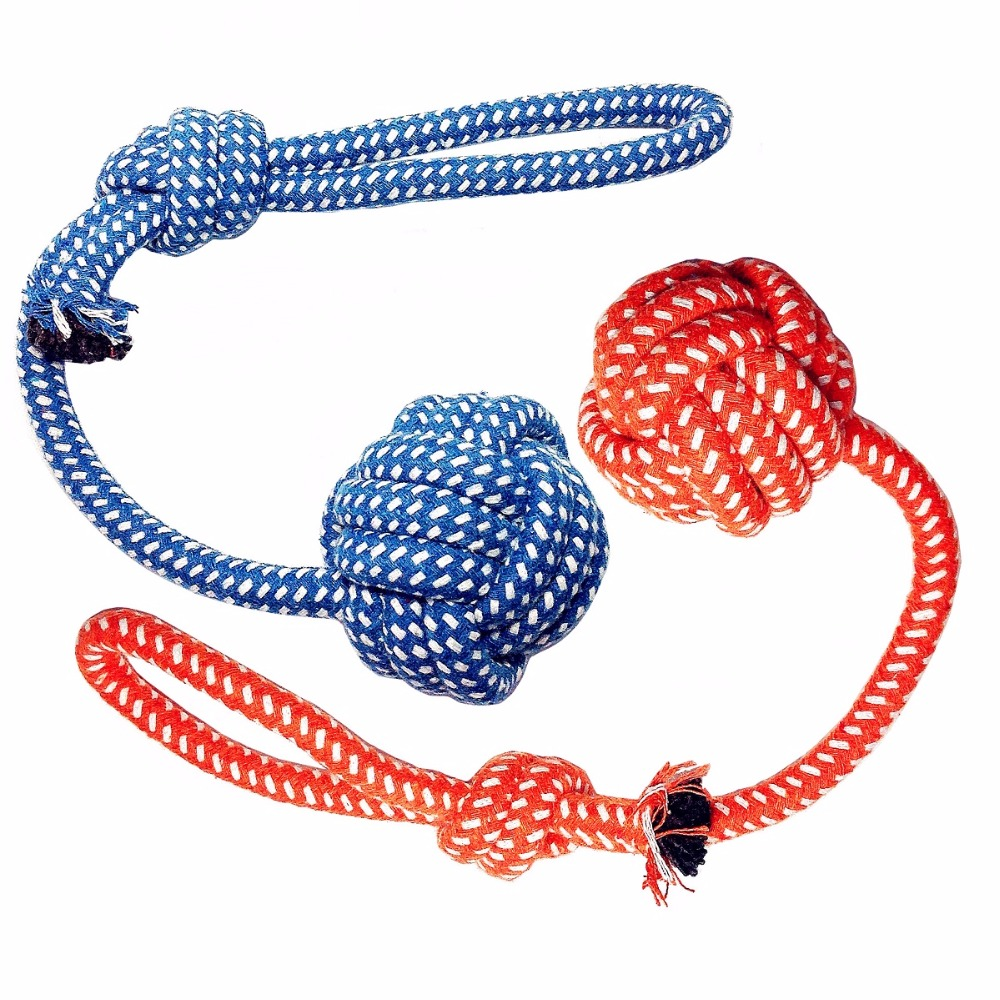 RoarMeow Pet Products Durable Rope Dog Toy For Any Size Dog Environment Friendly and Washable Cotton- Best for Tug good toy