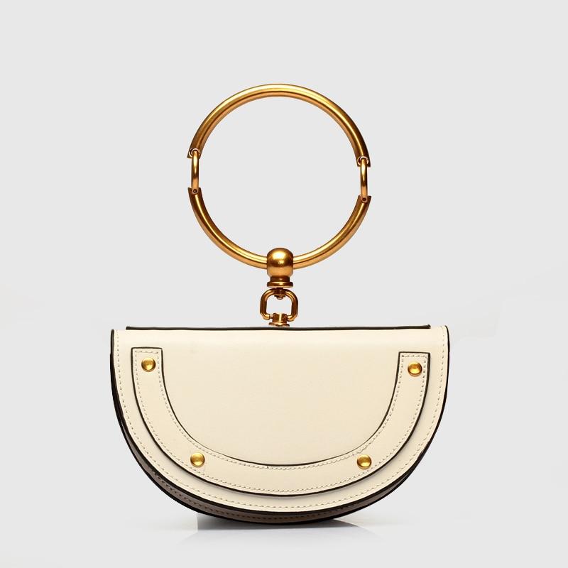 PISIDIA 2018 Women Bag Crossbody Bag Luxury Handbags Women Bags Designer Ring Half Moon Handbag Handbag Messenger Bags in Top Handle Bags from Luggage Bags
