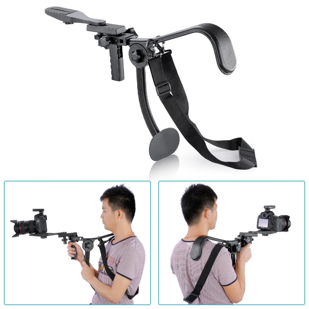 Neewer Hand-Free Shoulder Mount Stabilizer Support Pad For Canon Nikon Sony Gopro Hero Phone DSLR DV Support up to 13 Lbs/6KG neewer dslr shoulder mount support rig with camera camcorder mount slider shoulder double hand handgrip c shape for canon nikon