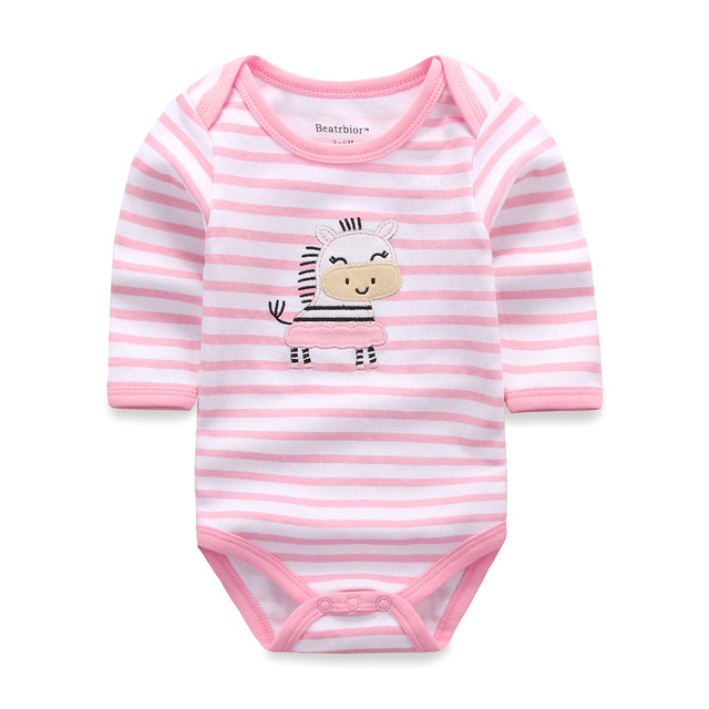9b2ac1041247 Baby Bodysuits O neck Cotton Cartoon Long Sleeve Baby Clothes Winter ...