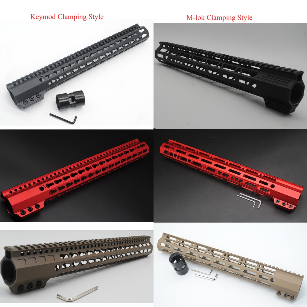 15 ''pouces Keymod/M-lok De Serrage Style Monolithique Top Handguard Rail Picatinny Livraison Flottent Monture Système Noir/Rouge/Tan couleur