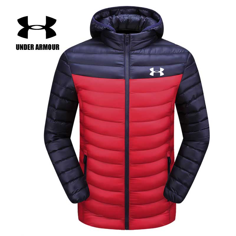 Under Armour Men winter warm training jackets new slim fit fashion jackets outdoor light windproof clothes chaqueta hombre L-4XL цена