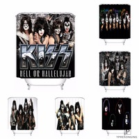 Custom Kiss Band Shower Bath Curtain Mildewproof Waterproof Polyester Various Sizes#0421 21 41