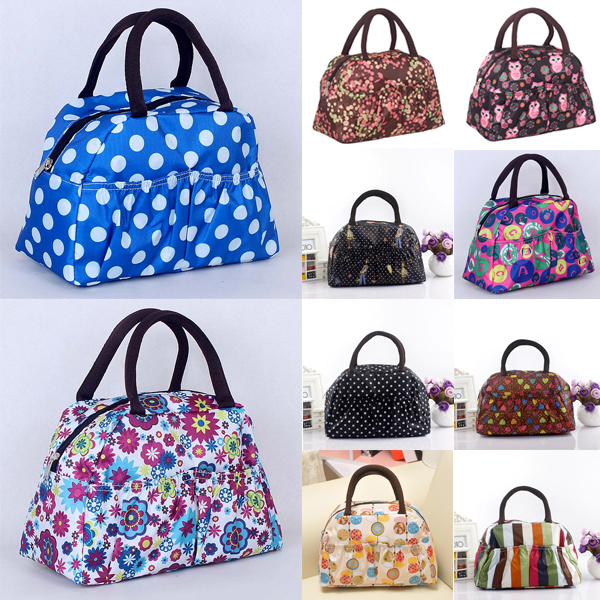 New Fashion Portable Ployester Waterproof Women Handbags font b lunch b font font b Bag