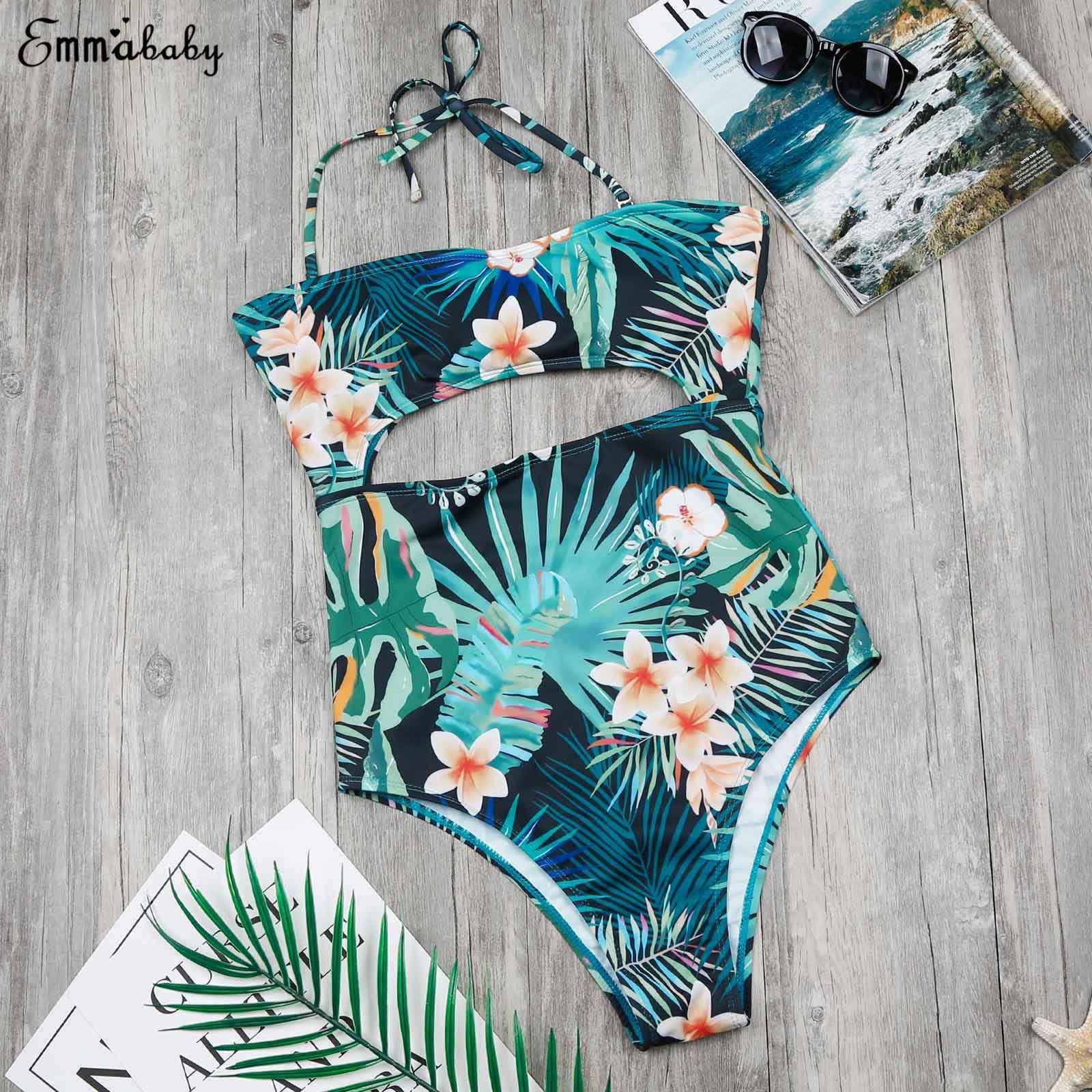 Keluarga Yang Sesuai dengan Anak Perempuan Bayi Gadis Floral Dicetak Bikini Satu Potong Pakaian Baju Renang Pakaian Renang Baju Renang Perban Beachwears