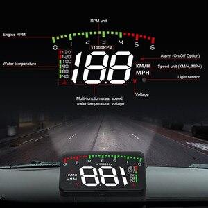 Image 2 - GEYIREN HUD araba A900 OBD2 Head Up ekran hız RPM su sıcaklık araç elektroniği hud obd2 ekran aşırı hız Head Up ekran