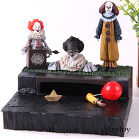 NECA Stephen King's It Pennywise Action Figure Accessory Set PVC Collection Model Toy Greeting From Derry Peel Toys