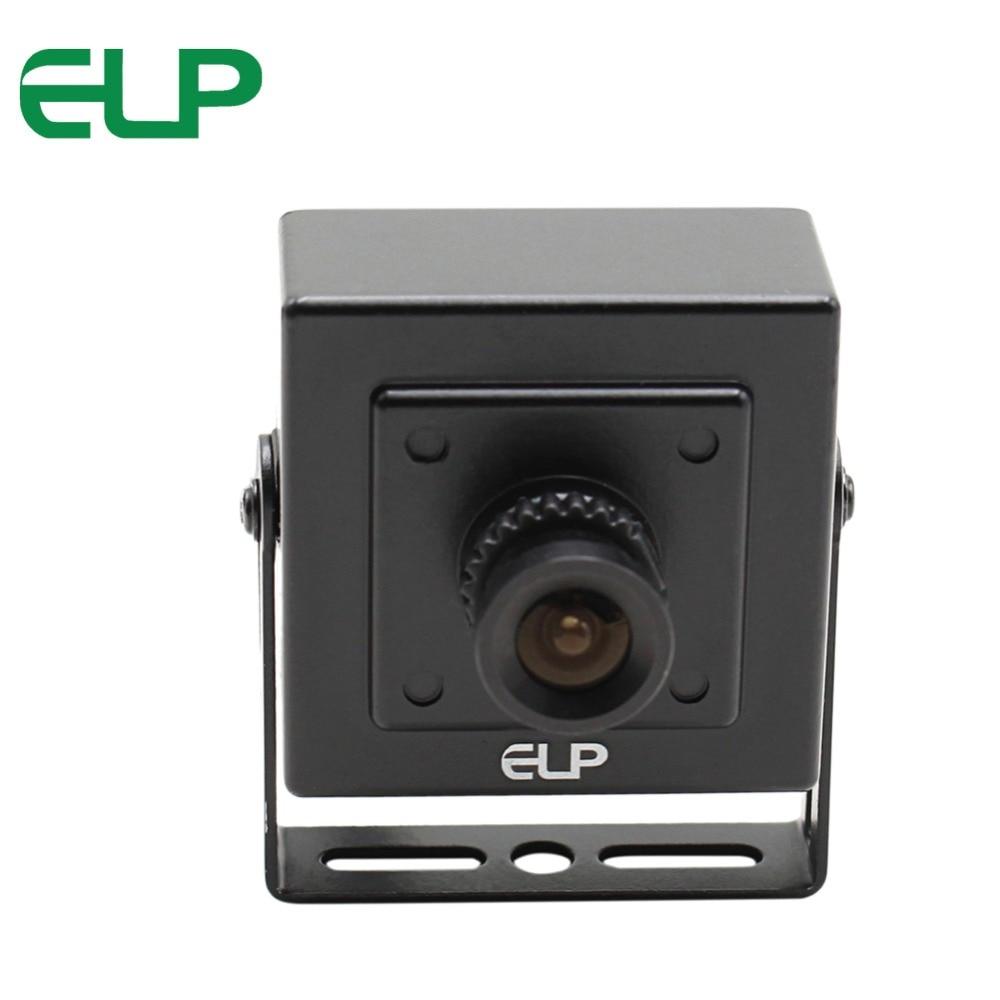 ELP HD 1.0MP CCTV AHD Camera Security CMOS 720P Video Analog Mini AHD Camera 3.6mm Lens Metal Housing Indoor Use Black