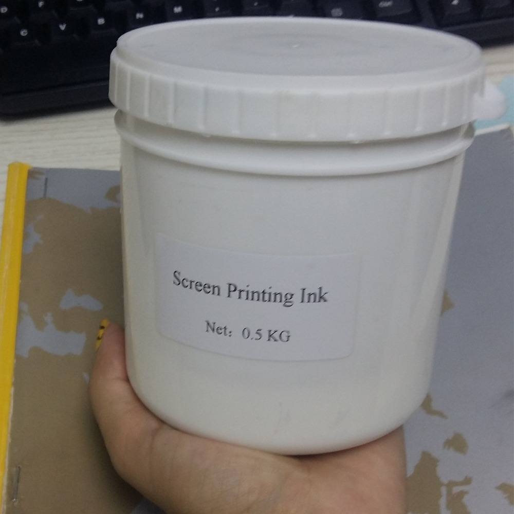 0.5kg/can white screen printing ink,shipping by Fedex
