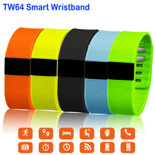 TW64 фитнес-трекер SmartBand Водонепроницаемый Смарт Спорт браслет Bluetooth 4.0 OLED браслет шагомер для IOS Android-смартфон
