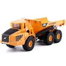 цены Premium New Toy Alloy 1:87 Scale Dump Truck Diecast Construction Vehicle Cars Lorry Toys Model