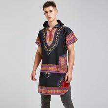 Unisex 100% Cotton Long Plus size Dashiki African Ankara Ethnic Kitenge Tribal Black Shirt 2019