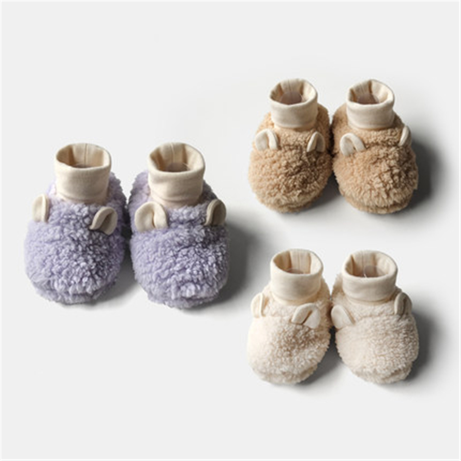 Baby Shoes First Walkers Baby Soft Bottom Baby's Bootees Footwear Cloth Cotton Cute High Quality Baby Shoes Winter 70A1046