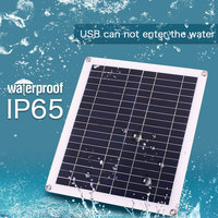 True 20W 18V Waterproof Battery Solar Panel USB Home Outdoor RV Car Charger USB+DC Port Car Battery Charging solar cells cell