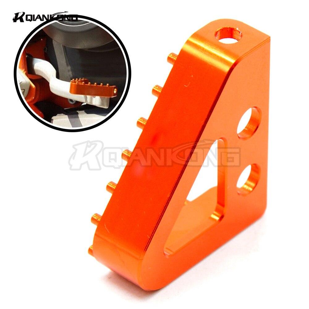 R QIANKONG High Quality Moto Orange&black BILLET FOOT BRAKE PEDAL STEP TIP CNC Aluminum For KTM 65 85 125 150 250 350 450 SX SXF