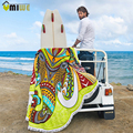 2017 Микрофибра Lotus Печатных Круглый Beach Towel Слон Ловец Снов Pattern Курортный Пляжный Отдых Отдых На Природе Мат Мандала Кисточкой Большой