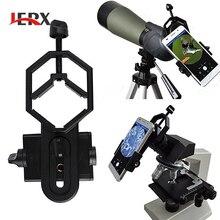 JERX Универсальный Микроскоп телескоп Стенд адаптер для iPhone 7 6S сплав смартфон держатель телефона
