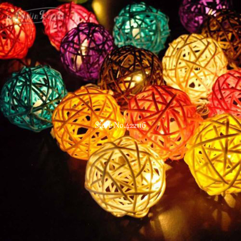 Decorative Rattan Balls Stunning 5M10M Led Christmas Lights Outdoor Indoor 5Cm Decorative Rattan Design Inspiration