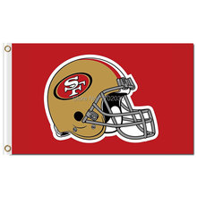 San Francisco 49ers Flag Custom Your Text Flag 3ft X 5ft Polyester N*L Team Banner Flying World Series Cubs Football Banner